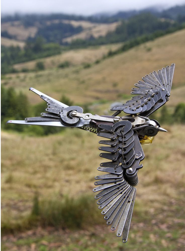 jeremy mayer's scrap metal sculpture