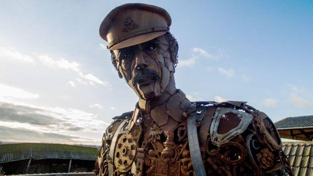 Mark Martin Car >> Huge Scrap Metal Soldier Unveiled
